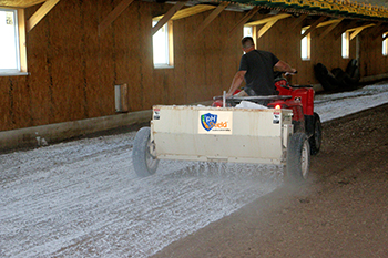 USA Gypsum drop spreader
